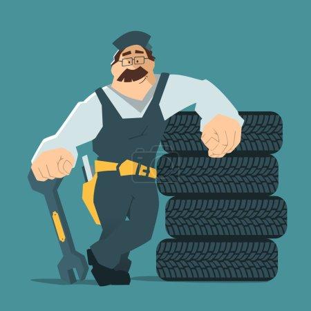 Car tire tyre service