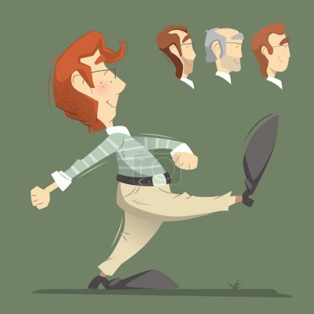 Walking man illustration