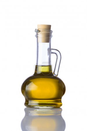 Bottle of Cooking Oil on White Background