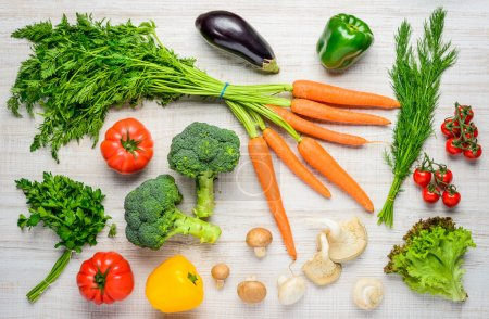 Photo for Fresh and organic vegetables  Healthy food and healthy eating. - Royalty Free Image