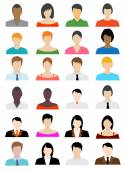 Set of Avatar Color Icons - Illustration