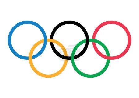 International Olympic Games  Flag Banner - vector