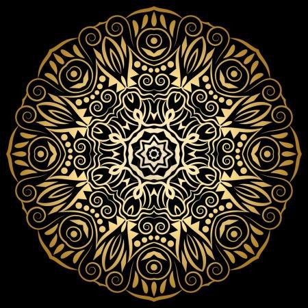 Mandala medallion ornament