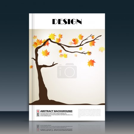 Abstract composition, a4 brochure title sheet, autumn leaves icon construction, eco carving, botanical surface, creative organic figure, logo sign, firm banner form, flier fashion, EPS10 illustration