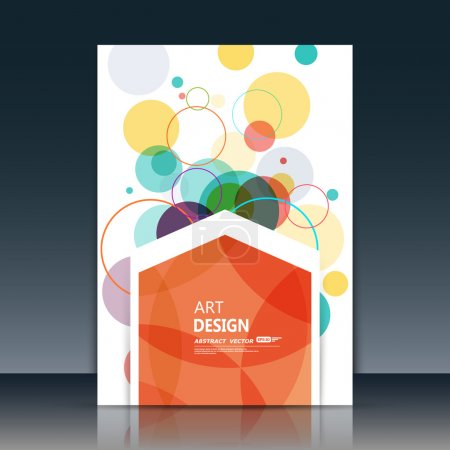 Abstract composition, circle part construction, red polygonal pentagon text surface, white a4 brochure title sheet, creative figure icon, logo sign, firm banner form, flier fashion, EPS10 illustration