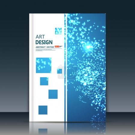 Abstract composition, quadrangle font texture, white transparent square part construction, blue a4 brochure title sheet, creative figure icon, logo sign surface, firm banner form, flier fiber, EPS10