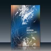 Abstract composition, triangle font texture, white transparent part construction, blue a4 brochure title sheet, creative figure icon, logo sign surface, firm banner form, futuristic flier fiber, EPS10