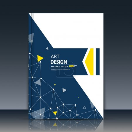 Abstract composition, black, white section construction, font texture, polygonal yellow triangle connection, a4 brochure title sheet, creative text frame surface, figure logo icon, flyer fiber, EPS10