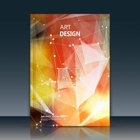 Abstract composition, linking rays font texture, white cybernetic dots, a4 brochure title sheet, creative figure, banner form, point plexus label, space flyer fiber, neon star matrix, EPS10 backdrop