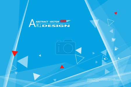 Abstract composition, text frame surface, white, blue title sheet, a4 brochure issue, creative figure, polygonal triangle con, logo construction, banner form texture, flyer fiber, EPS10 backdrop set