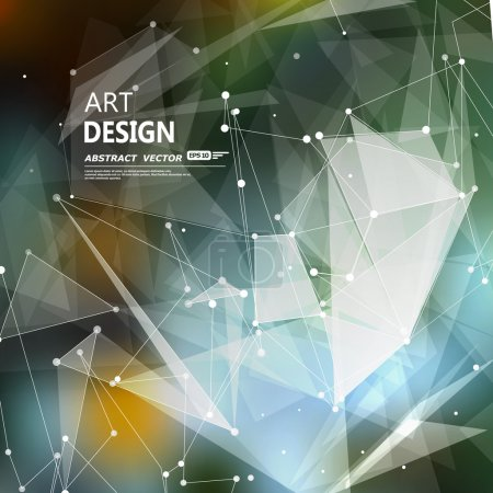 Abstract composition, font texture, white cybernetic dots, gray a4 brochure title sheet, creative figure, firm banner form, star, points label, outer space flyer fiber, neon matrix, EPS10 backdrop