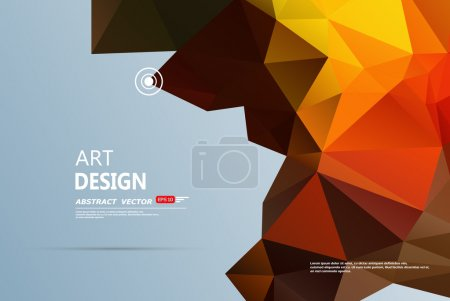 Abstract composition, gray, orange font texture, polygonal triangle construction, title sequence, wallpaper, creative figure, intro banner form, transparent amber surface, flyer fiber, EPS10 backdrop