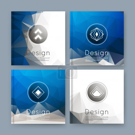 Abstract composition, white, blue business card set, info text, elegant geometric font texture, brochure title sheet, creative figure icon, sale flyer fiber, brand logo, trademark  EPS10 banner form