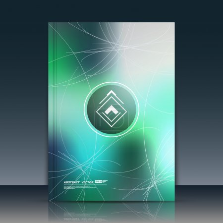 Abstract composition, text frame surface, green a4 brochure title sheet, creative figure logo sign icon, trademark symbol design, firm name emblem, banner form, flier fashion art, EPS10 vector image