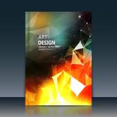 Abstract composition text frame surface orange a4 brochure title sheet alien cybernetic dot creative figure logo sign icon outer space fire banner form cosmic flier fashion EPS10 vector image