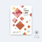 Abstract composition pink quadrate font texture square part construction white a4 brochure title sheet creative tetragon figure icon commercial logo surface firm banner form EPS10 flier fiber