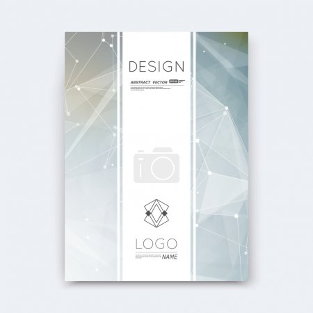 Abstract composition, grey polygonal stripe font texture, part construction, white a4 brochure title sheet, creative space figure icon, commercial logo surface, firm banner form, EPS 10 flier fiber