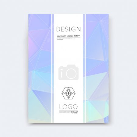 Abstract composition, lilac polygonal stripe font texture, square part construction, white a4 brochure title sheet, creative figure icon, commercial logo surface, firm banner form, EPS 10 flier fiber