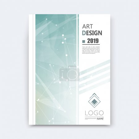 Abstract composition, grey polygonal stripe font texture, square part construction, white a4 brochure title sheet, creative figure icon, commercial logo surface, firm banner form, EPS 10 flier fiber