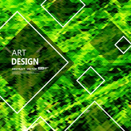 Composición abstracta, superficie del marco de texto rombo, fondo de pantalla verde, figura creativa chartreuse, icono de entrelazamiento de línea, secuencia de título, pantalla de inicio, protector de pantalla, formulario de banner, moda volante EPS10