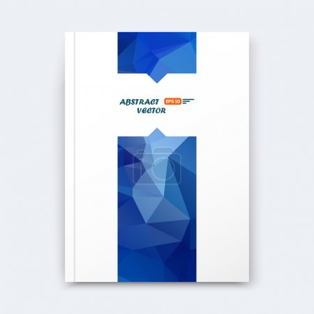 Abstract composition, blue polygonal stripe font texture, band part construction, white a4 brochure title sheet, creative figure icon, commercial logo surface, firm banner form, EPS 10 flier fiber