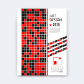 Abstract composition quadrate texture square part construction black red color brochure title sheet creative ceramic tessellation figure icon logo surface patch banner form flyer fiber EPS10