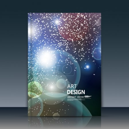 Abstract composition, cosmic sky texture, white cybernetic dot, a4 brochure title sheet, creative figure, banner form, outer space flyer fiber, neon star matrix, starburst elegant surface, EPS 10 font
