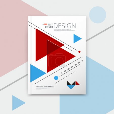 Abstract composition, notebook cover, arrow font texture, red, blue triangle part construction, a4 brochure title sheet, creative figure icon, commercial logo surface, banner form, EPS10 flier fiber