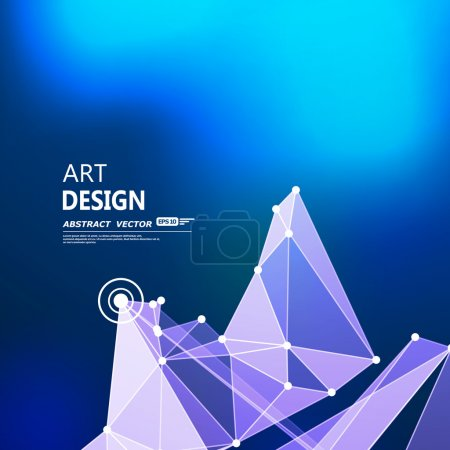 Abstract composition, futuristic technology, indigo blue font texture, white cybernetic dots, creative banner figure, wallpaper, outer space flyer fiber, neon star light matrix backdrop, vector art