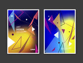 Abstract composition Rainbow color editable texture Patch triangle part construction Urban city view banner form A4 brochure title sheet set Creative figure icon Logo surface Square flyer font