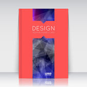 Abstract composition Blue polygonal triangle construction texture Line plexus section Light rays Red brochure title sheet Creative figure logo icon surface Shiny gradient banner form Flyer font