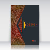 Abstract composition Orange black font texture Yellow arrow section trademark Curve lines construction Brochure title sheet Creative figure logo icon Commercial offer Banner form Flyer fiber
