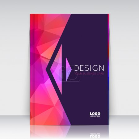 Abstract composition. Patch pink polygonal texture. Triangle part trademark construction. Lines plexus section. Black brochure title sheet. Creative arrow figure icon surface. Banner form. Flyer font.