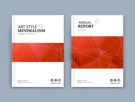 Abstract composition. Red, white font texture. Perforated dot construction. Square block. A4 brochure title sheet. Creative figure icon. Commercial logo surface. Pointed banner form. Light flier fiber
