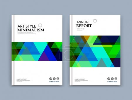 Abstract composition, patch polygonal texture, green, blue triangle part construction, white brochure title sheet, creative figure icon, bright facets, mosaic surface, puzzle banner form, flyer font