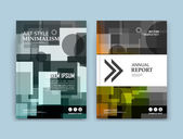 Abstract composition. Green polygonal texture. Square blocks construction. White brochure title sheet. Creative transparent arrow figure icon. Box blocks surface. Round parts banner form. Flyer font