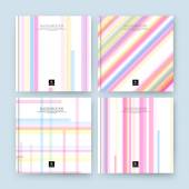 Abstract composition. Blue, orange, pink line font texture. Multicolor section trademark construction. A4 brochure title sheet. Creative figure logo icon. Commercial offer. Banner form. Ad flyer fiber
