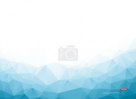 Abstract composition. Minimalistic fashion backdrop design. Blue, white polygonal figure icon. Azure color triangles font texture. Creative banner. Angles connection flyer fiber. Linking lines. Vector
