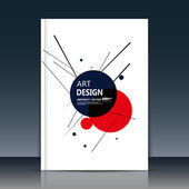 Abstract composition. Text frame surface. A4 brochure cover. White title sheet. Creative logo figure. Ad banner form texture. Red, black circle icon. Lines plexus. Flyer fiber backdrop. Vector image