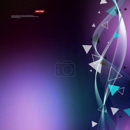 Composición abstracta. Superficie del marco de texto. Parche fondo de pantalla de color violeta. Figura creativa. Icono de entrelazamiento de líneas. Secuencia de título Pantalla de inicio. Protector de pantalla. Formulario de banner. Moda de aviador. Vector