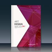 Abstract composition. Burgundy font texture. Perforated dot construction. White line plexus. A4 brochure title sheet. Creative figure icon. Commercial logo surface. Pointed banner form. Ad flier fiber