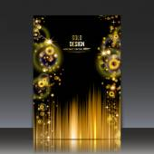 Abstract composition, golden outer space galaxy, glory star ray gloss, a4 brochure title sheet, cosmic sky icon, text frame surface, luxury creative figure, chic logo sign, posh firm banner form, fancy flier fashion, daily periodical issue, EPS10