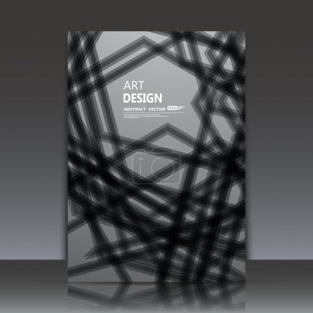 Abstract composition,text frame, line interlacement, filament intersection, black ray cross plexus, gray yarn backdrop, s4 brochure title sheet, business card surface, modern stitching fiber texture, fancy flier fashion, daily periodical issue, EPS10