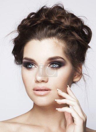 Beautiful woman with smoky eyes