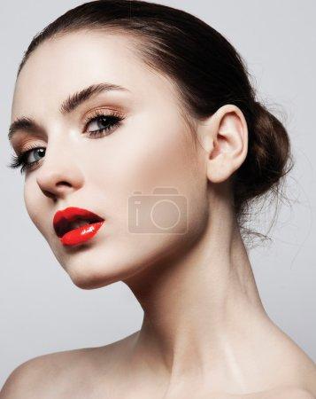 female model face with  stylish make up
