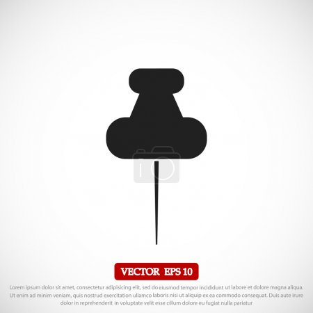 Illustration for Push pin icon vector illustration - Royalty Free Image