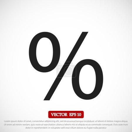 Illustration pour Pourcentage icône vectorielle sur fond clair - image libre de droit