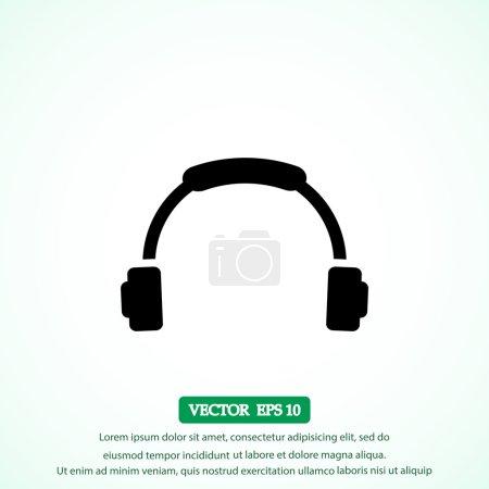 Headphone vector  icon