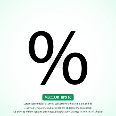 Illustration pour Illustration d'icône vectorielle en pourcentage - image libre de droit