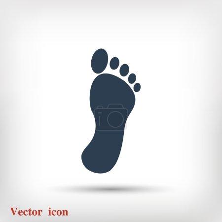 black footprint icon